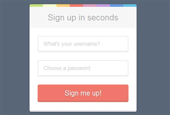 CSSFlow registration form