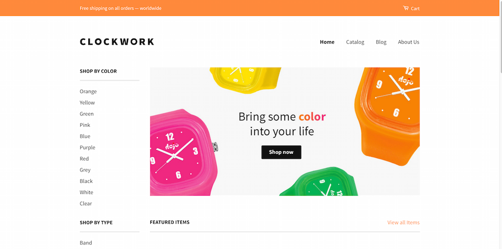 Clockwork Classic Responsive Shopify Theme