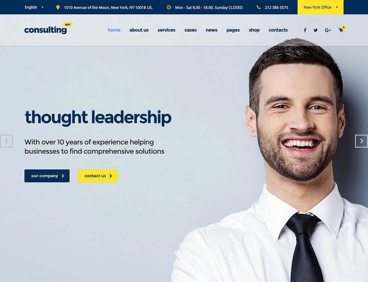 Consulting Insurance WordPress Theme