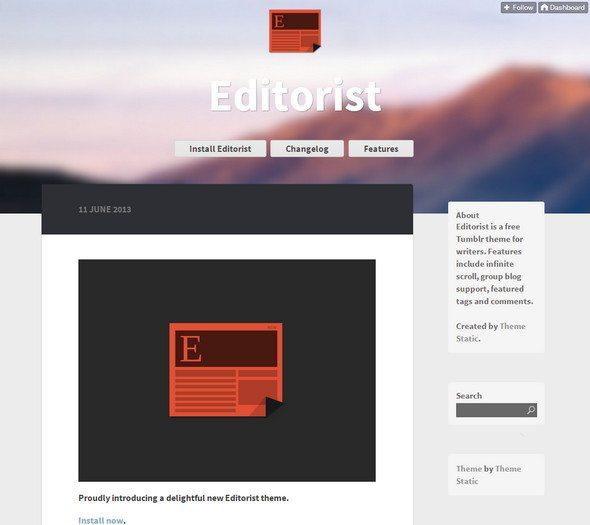 Editoristresponsive tumblr theme