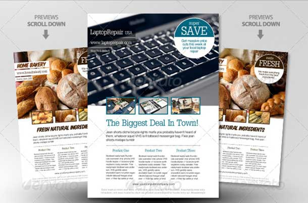 Feature Image Ad Magazine Template
