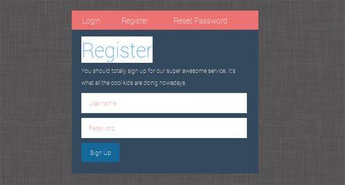 Free CSS Login Register Form