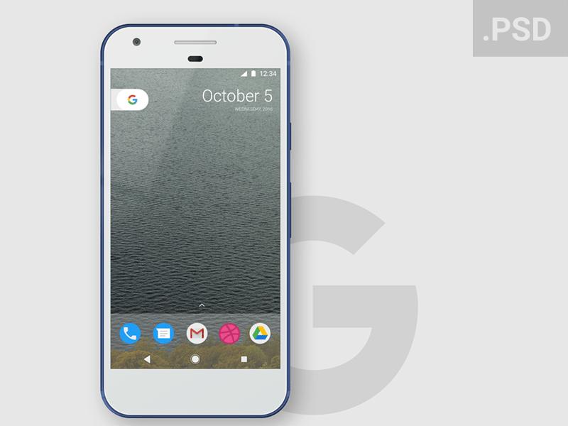 Free Google Pixel PSD Mockup Free