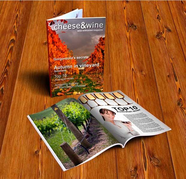 Free Magazine PSD MockUp Template