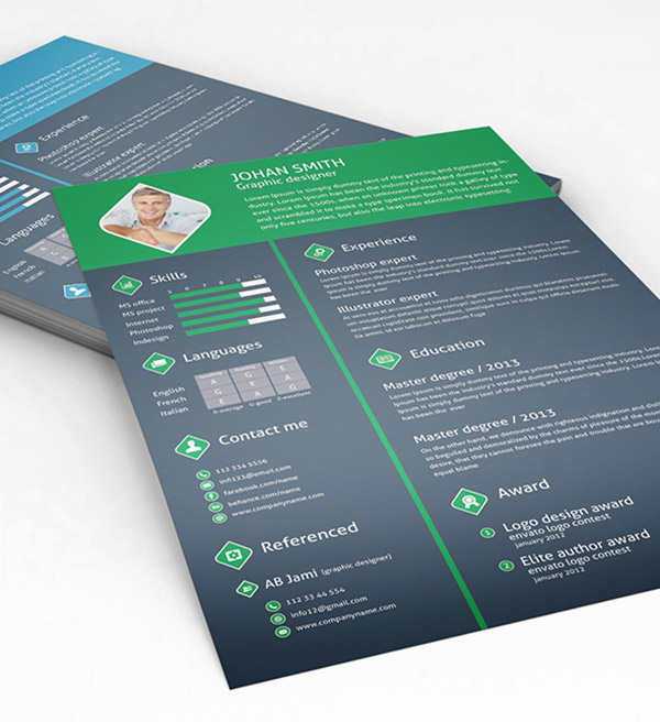 85  free  cv  indesign resume templates in ai  html  u0026 psd