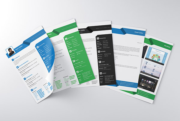 Freebie Multi Page Indesign Resume Templates