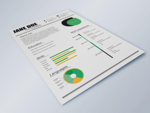 Fresh Resume Indesign Resume Templates