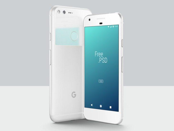 Google Pixel PSD Mockup Template