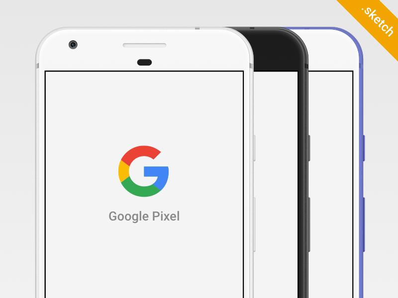 Google Pixel Sketch PSD Mockup Template