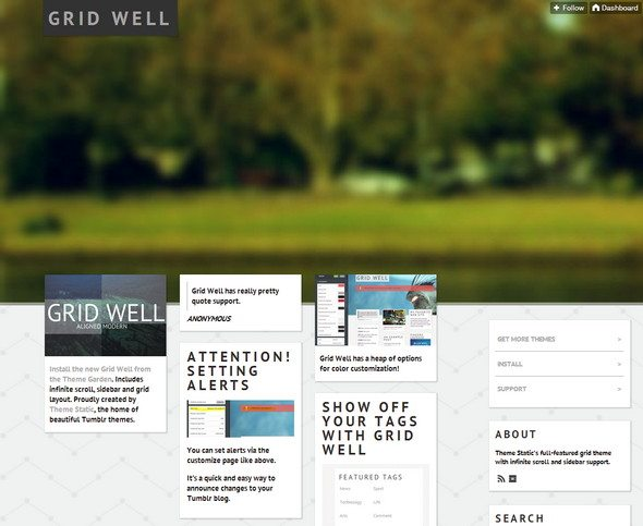 Grid Well tumblr theme