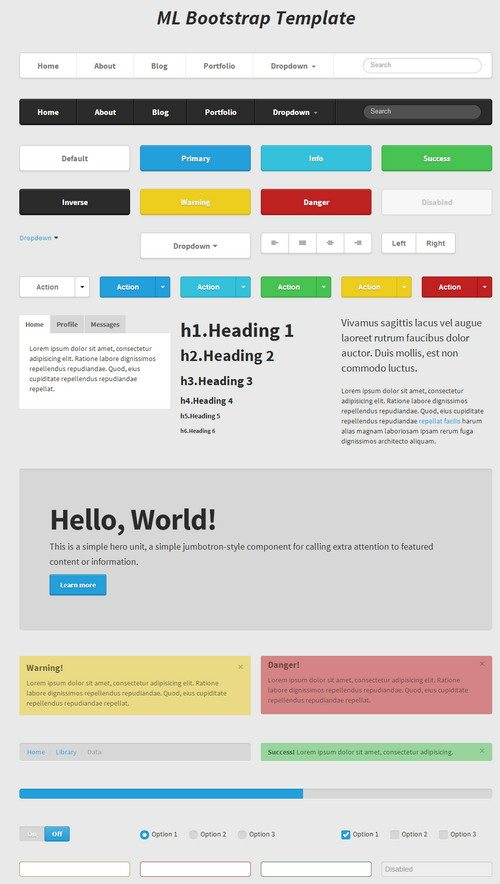 HTML5 CSS3 Bootstrap template