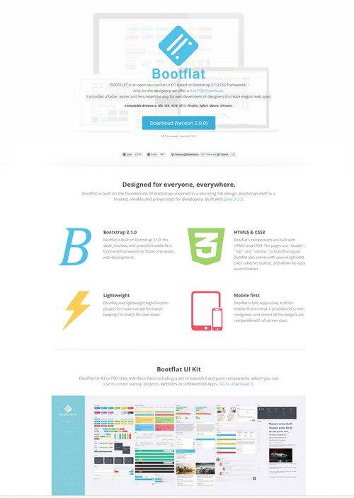 HTML5 CSS3 bootflat
