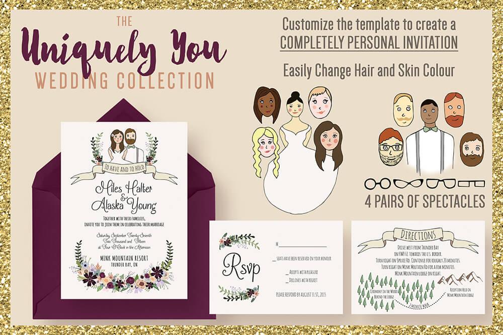 60 creative wedding invitation examples ideas for Wedding invitations layout examples