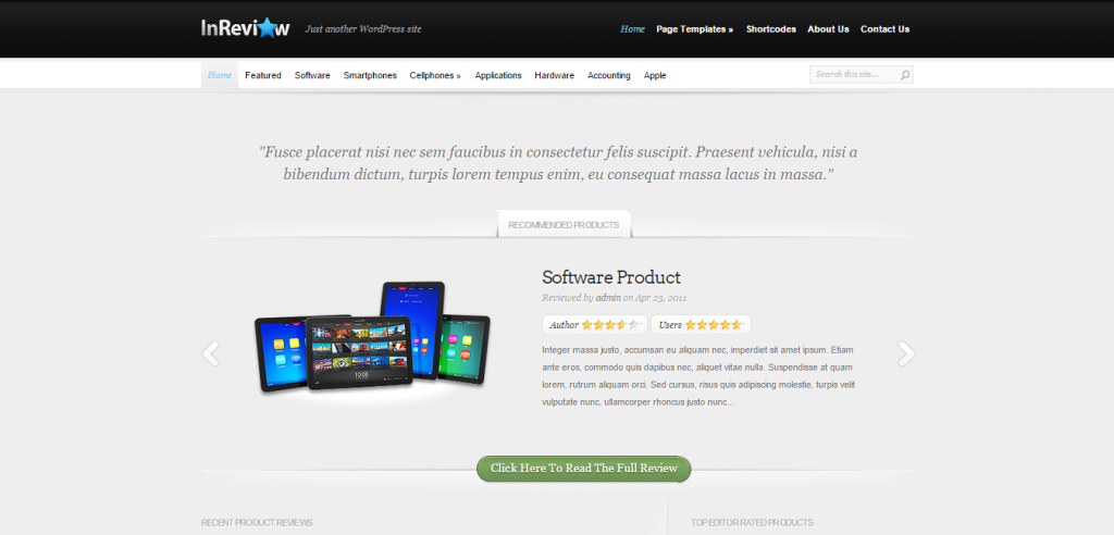 InReview Affiliate Marketing WP Themes