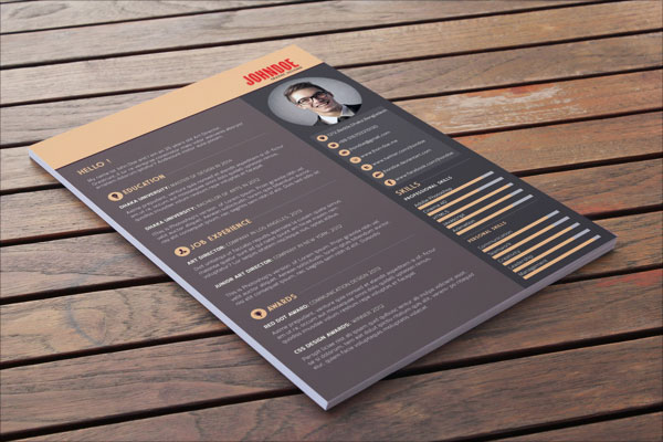 Indesign Resume Templates Download