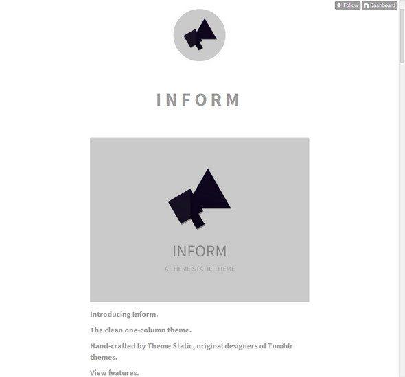 Inform tumblr theme