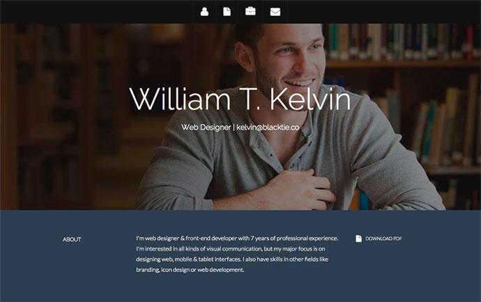 Kelvin Indesign Resume Templates