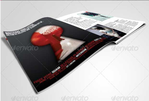 Keyhole Magazine Ad Template