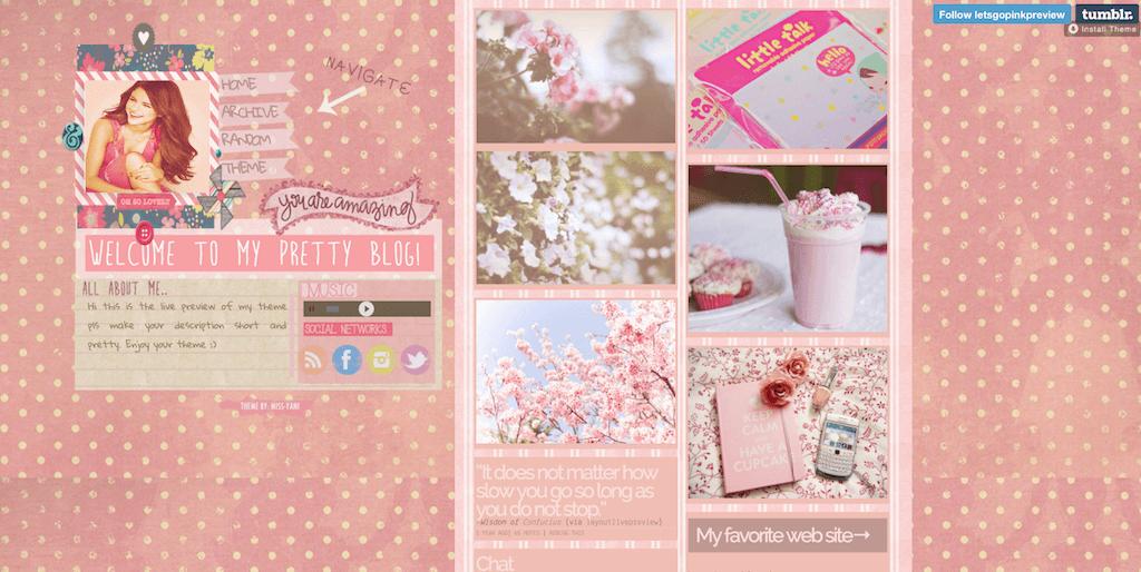 Lets Go Pink tumblr themeLets Go Pink tumblr theme