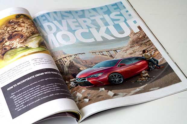 Magazine Advert Mockups free download