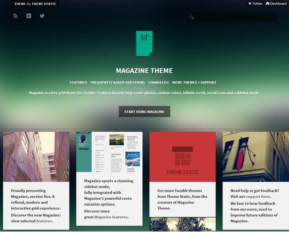 Magazine tumblr theme