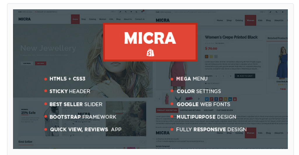 Micra Shopify Themes for online stores