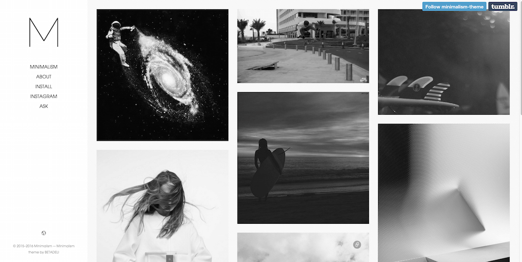 Minimalism free tumblr theme