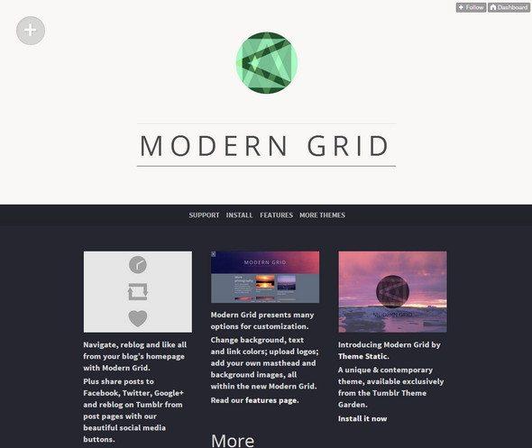 Modern Grid free tumblr theme