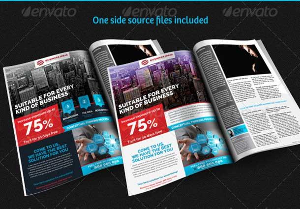 Multipurpose Corporate Magazine Ad