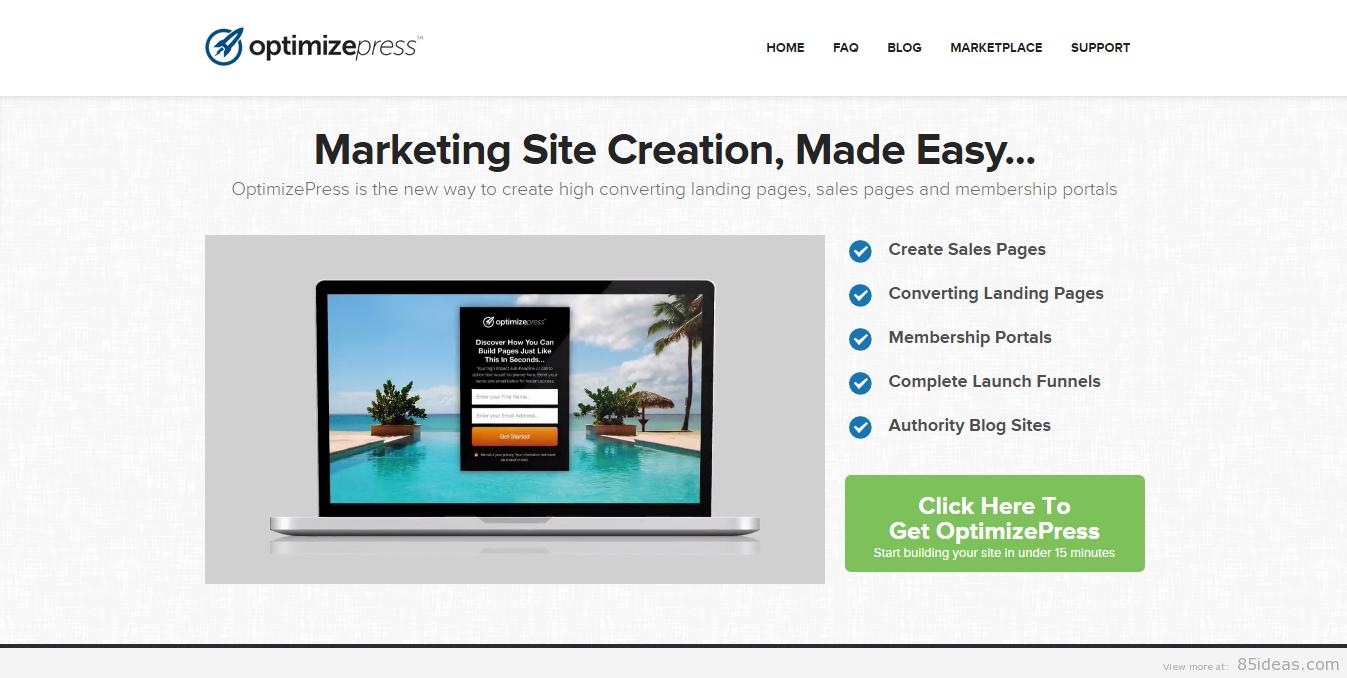 OptimizePress Affiliate Marketing WP Themes