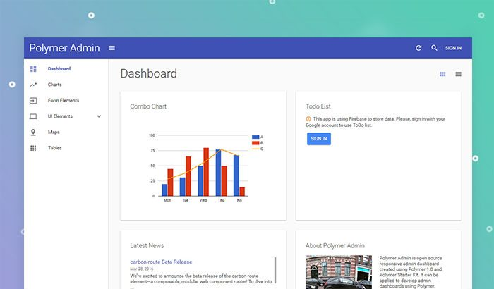 Polymer Free Admin Template