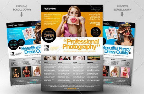 Pro A4 Magazine Ad Templates