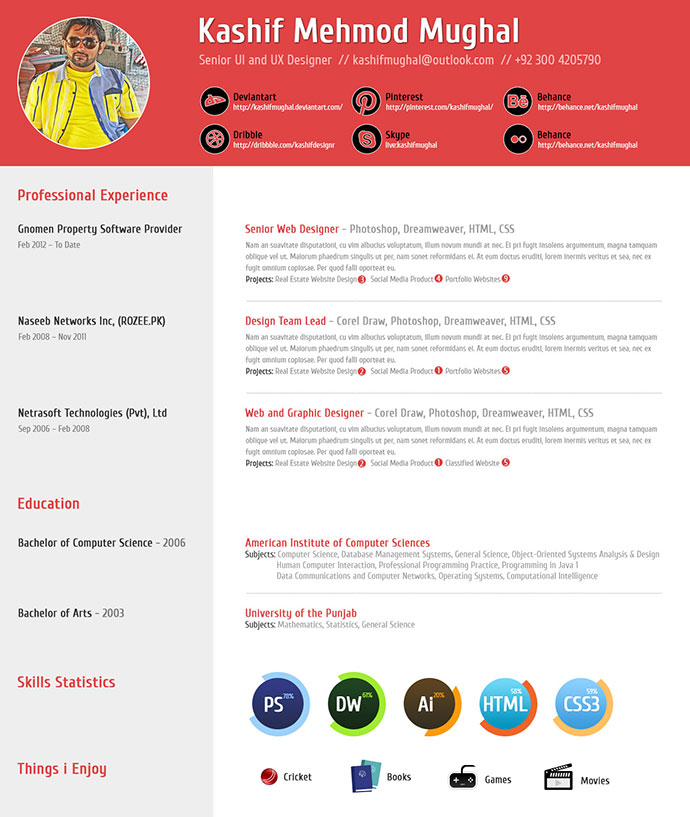 Professional Indesign Resume Templates 19
