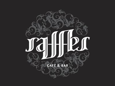 Raffles Cafe ambigram examples