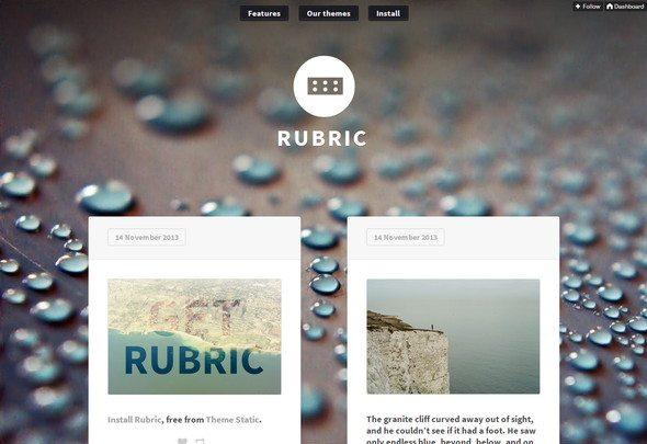 Rubric free tumblr theme