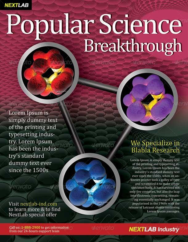 Science Tech Magazine Ad Template
