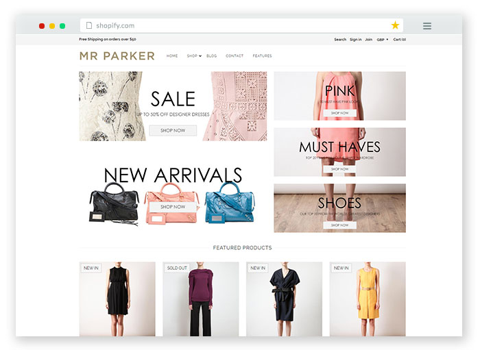 Shopify online store for Fashion