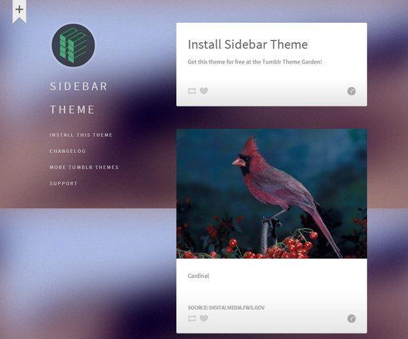 Sidebar free tumblr theme