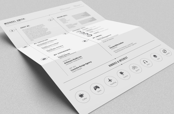 Simple CV Indesign Resume Templates