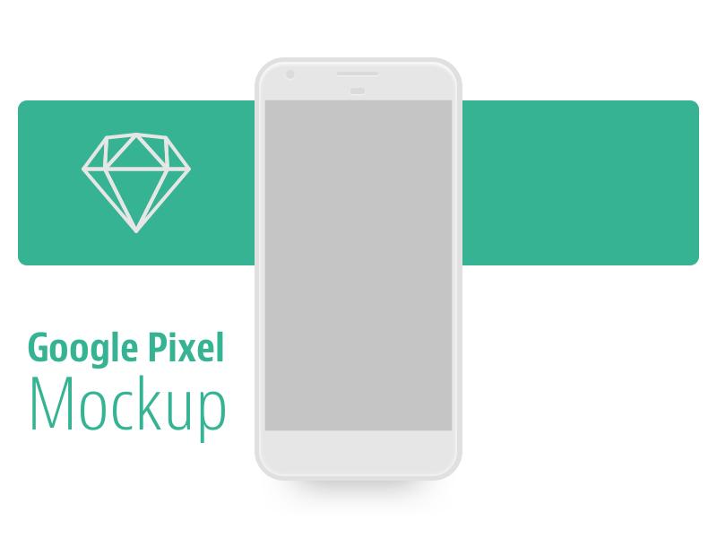 Sketch Google Pixel Mockup Download