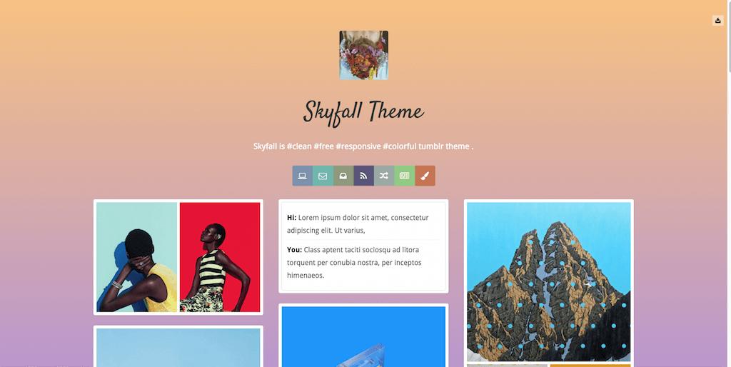 Skyfall free Tumblr Themes download