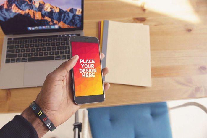 Smart Mobile Google Pixel PSD Mockup