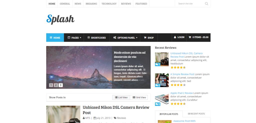 Splash Affiliate Marketing WP Themes