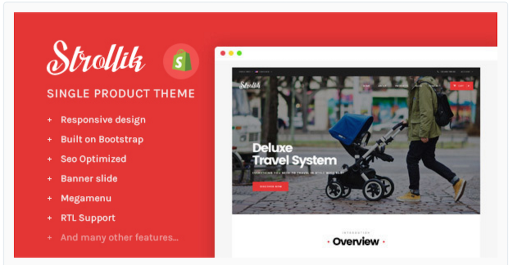 Strollik Single Product Shopify Theme
