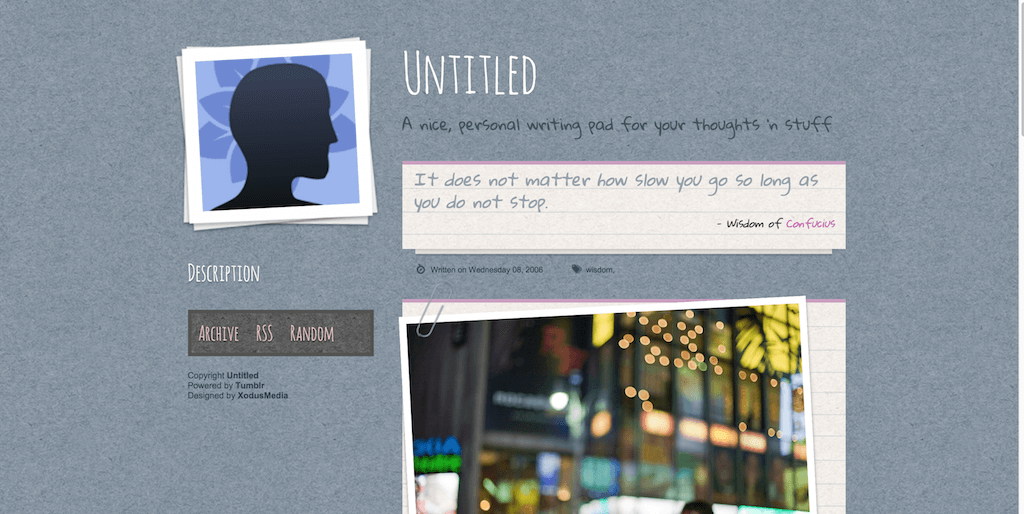 Writing Pad tumblr themes