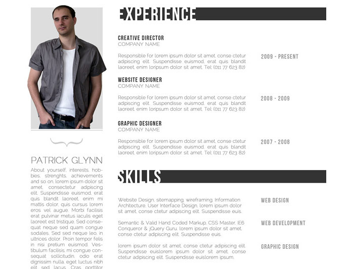 a4 Indesign Resume Templates