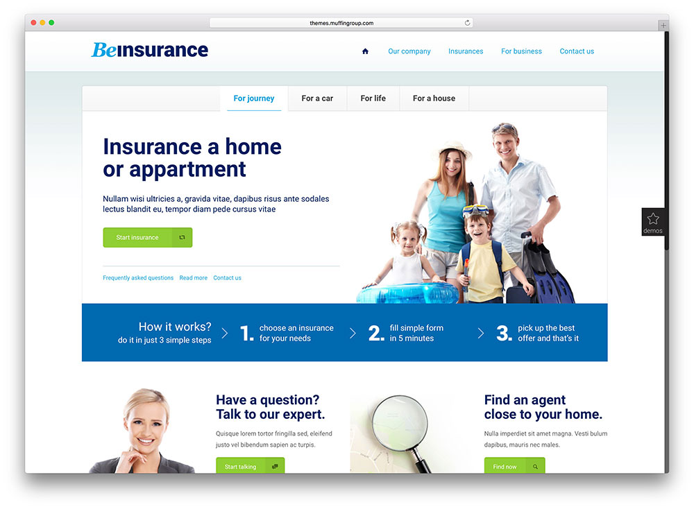 betheme Insurance WP Theme