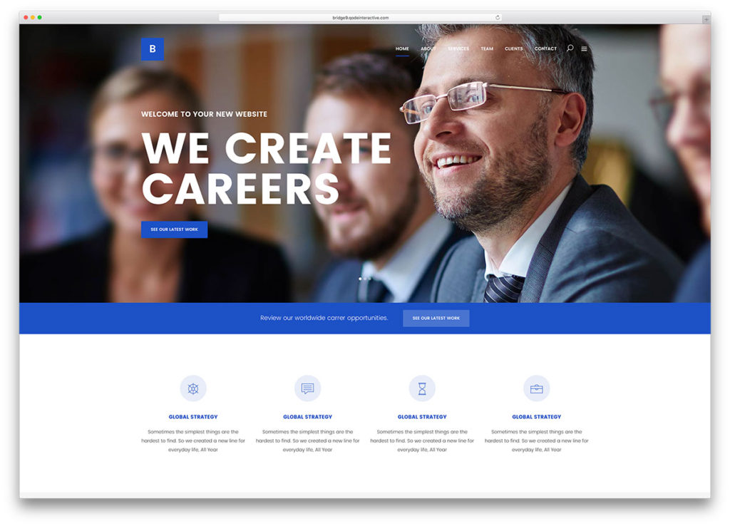 bridge Insurance WordPress Theme