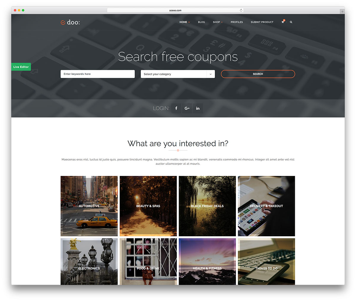 coupon Affiliate Marketing website template