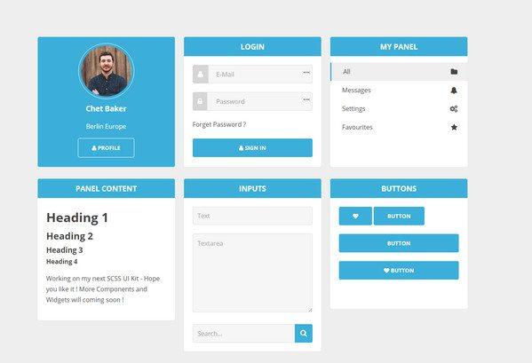 creative HTML5 CSS3 UI Kit